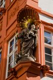 Statue of Mary in Heidelberg, Germany Stock Image