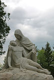 Statue of Mary and Jesus. Statue of Mary holding Jesus after His crucifixion Royalty Free Stock Photography