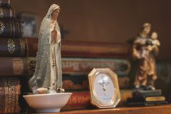 Religious Christian statue of Saint Mary, mother of Jesus royalty free stock photos