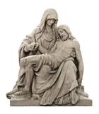 Statue of Mary mourning for Jesus Christ Royalty Free Stock Photo