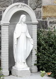 A Statue of Mary  outside the Church of St. Anthony of Padua, New York. New York, USA - September 27, 2016: A Statue of Mary  outside the Church of St. Anthony Royalty Free Stock Images