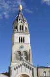 Statue of Mary on top of Chapel de la Vierge at Basilica of Notre Dame de Fourviere in Lyon Stock Photo