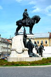 Statue of Matei Corvin in Cluj-Napoca, Transylvania Royalty Free Stock Images