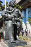 The statue `maternity`. Botero square, Medellin. Colombia Royalty Free Stock Photo