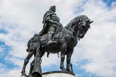 Statue of Matthias Corvinus Royalty Free Stock Photography