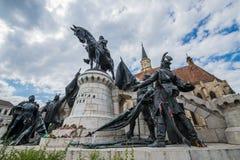 Statue of Matthias Corvinus Royalty Free Stock Images