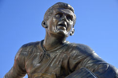 Statue of Maurice Richard. MONTREAL CANADA MARCH 17: Statue of Maurice Richard in front the Bell Center on march 17 2013 in Montreal Canada. The Rocket is the Stock Image
