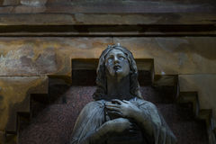 Statue in a mausoleum Royalty Free Stock Photo
