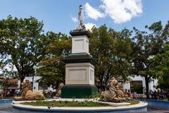 Statue Maximo Jerez fountain Ruben Dario Royalty Free Stock Images