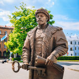Statue of the Mayor with the key and a royal Royalty Free Stock Images