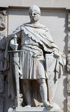 Statue of a medieval Knight Royalty Free Stock Images