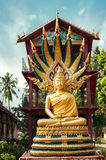 Statue of meditating Buddha in traditional theravada style. Laos Royalty Free Stock Photography