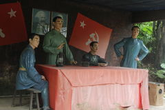 The statue of The meeting revolutionary youth in the Red Army Park,shenzhen,china Stock Photo