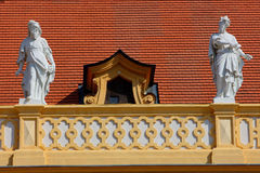 Statue in Melk abbey,germany 2011 summer royalty free stock photo