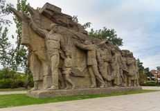 Statue Memory of generations on the entrance square Memorial complex Mamayev Kurgan in Volgograd Stock Photography