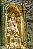 Statue in memory of papal Rome Stock Images