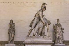 Statue Menelaus supporting the body of Patroclus in Loggia dei L