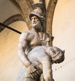 Statue Menelaus und Patroclus in Florenz Lizenzfreie Stockfotos