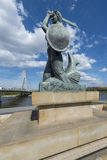 Statue of Mermaid, symbol of Warsaw Royalty Free Stock Photos