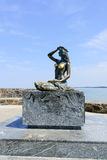 Statue of the Mermaid in Ustka Stock Images