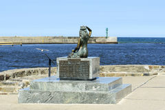 Statue of the Mermaid in Ustka Royalty Free Stock Images