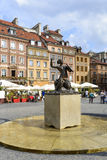 Statue of Mermaid in Warsaw. Stock Photo