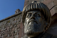 A statue of Merzifonlu Kara Mustafa Pasha in the Cappadocia region of Turkey. Royalty Free Stock Photos