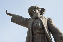 Statue of Mevlana Rumi. Huge statue of Mevlana Rumi  located izmir buca turkey Royalty Free Stock Photography