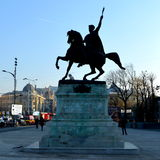 Statue of Michael the Brave in the centre of Bucharest Stock Images