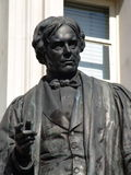Statue of Michael Faraday. Sculpture of scientist Michael Faraday in London stock photos