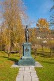 Statue of Micheline Grafin von Almeida, member of noble austrian family. Mondsee, Austria