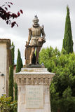 Statue of Miguel de Cervantes, author of Don Quixote Royalty Free Stock Photo