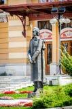 Statue of Mihai Eminescu, national Romanian poet Royalty Free Stock Photos