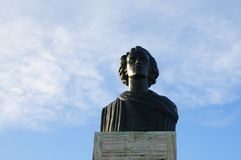 The Statue of Mihai Eminescu,situated in Constanta, Romania. Stock Photography