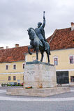 Statue of Mihai Viteazul. Alba Iulia, Romania - September 06, 2015: Statue of Mihai Viteazul. Prince of Wallachia and of Moldavia. One of Romania's greatest Stock Photography
