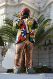 Statue of Miles Davis in Nice, France Royalty Free Stock Images