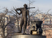 Statue of miner 1 Royalty Free Stock Images