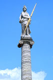 Statue of Minerva on the column Kuskovo Moscow Russia Royalty Free Stock Photo