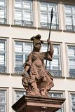 Statue of Minerva in Frankfurt. Statue of Minerva, ancient goddess of wisdom and warriors Royalty Free Stock Photo