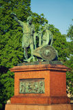 Statue of Minin and Pozharsky in Moscow Stock Photography