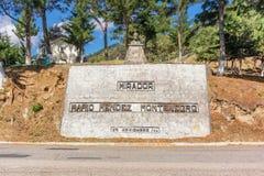 Statue in Mirador, lookout, Mario Mendez Montenegro in Guatemala Royalty Free Stock Image