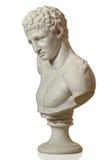 Statue mit einem Portrait eines Mannes Stockfotos