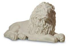 Statue mit einer Abbildung eines Löwes Lizenzfreies Stockbild