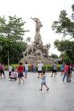 Statue mit fünf Ziegen lizenzfreie stockfotos