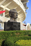 Statue of modern olympic games father baron pierre de coubertin Stock Photo