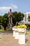 Statue of Mohammad Husni Thamrin in jakarta Royalty Free Stock Photos