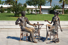 Statue moi, vous et Batumi en parc de miracle Batumi, la Géorgie Image libre de droits