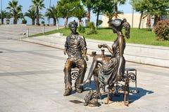 Statue moi, vous et Batumi en parc de miracle Batumi, la Géorgie Photographie stock libre de droits