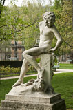 Statue in Monceau Park Stock Images