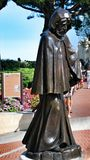 Statue of the monk in front of the Royal Palace in the State Monaco Royalty Free Stock Photo
